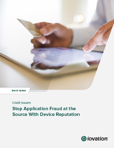 Stop Online Credit Application Fraud at the Source cover