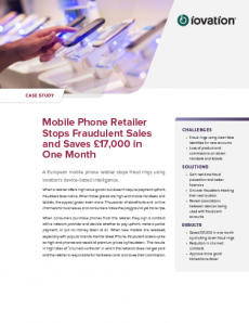Mobile Phone Retailer Stops Fraud and Saves 17,000 GBP preview