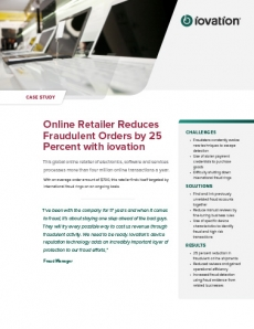 Online Retailer Reduces Fraudulent Orders by 25 Percent preview
