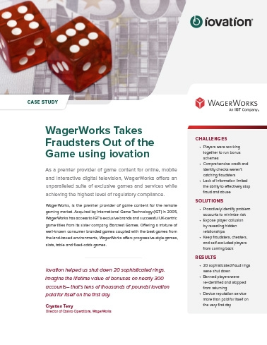 WagerWorks Stops 20 Fraud Rings, 300 Fraudulent Accounts cover